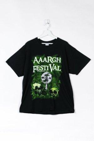 Schwarzes Festival T-Shirt in XL