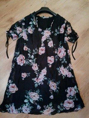 Schwarzes Flatter Kleid Italo-Style