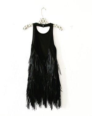 schwarzes fransenkleid • true vintage • classy • parisienne
