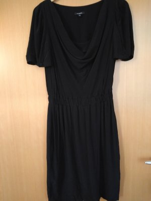 Axara Robe de cocktail noir viscose