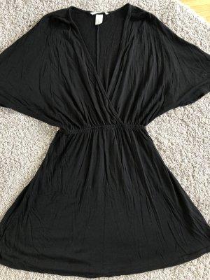 Schwarzes Freizeit Kleid