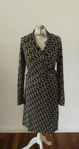 Schwarzes gemustertes Kleid Esprit L