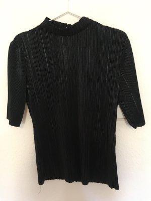 Schwarzes Glanz T-Shirt/Bluse