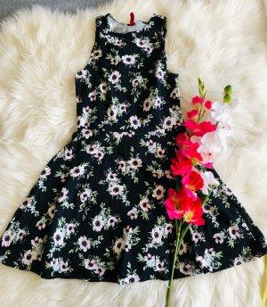 Schwarzes H&M Sommer Kleidchen florales Muster S
