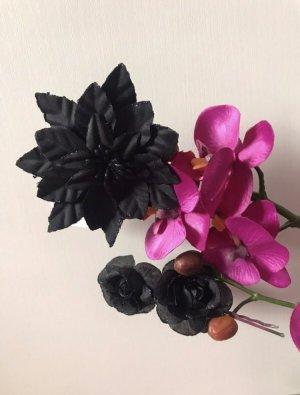 Claires Hair Clip black textile fiber