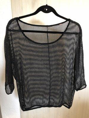 Schwarzes Häkel-Shirt