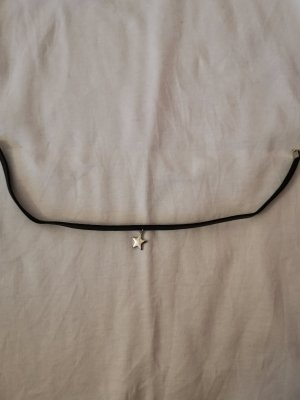 Claires Necklace black-silver-colored