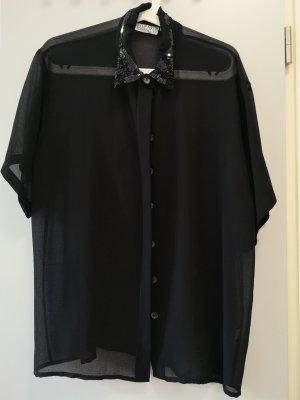 schwarzes Hemd mit Pailletten