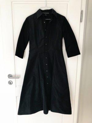 Schwarzes Hemdblusenkleid von Ralph Lauren Midi