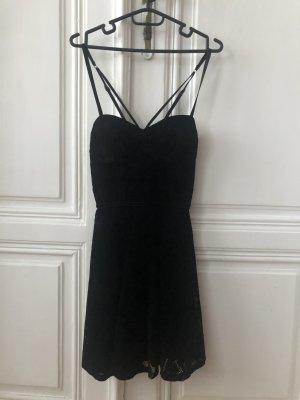 Schwarzes Hollister Kleid (samt)