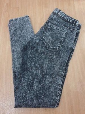 H&M Divided Stretch jeans zwart-donkergrijs