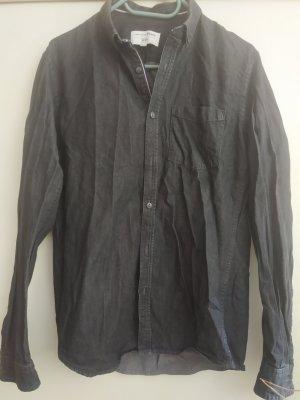 Tom Tailor Blouse en jean noir-gris anthracite