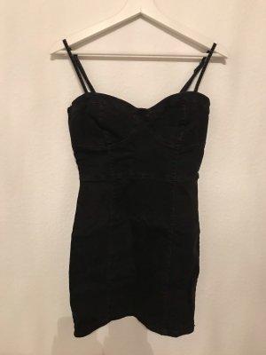 Bershka Denim Dress black