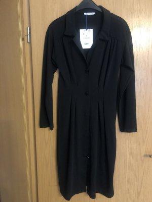 Trafaluc by Zara Gabardina tipo vestido negro Poliéster