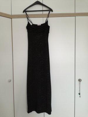 Orsay Tube Dress black-silver-colored