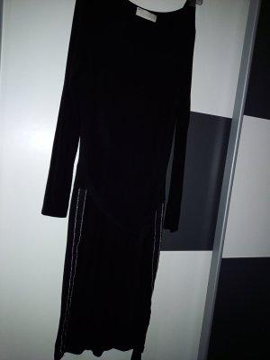 YOURSELF Vestido de tela de sudadera negro