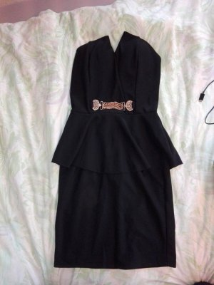 Robe péplum noir