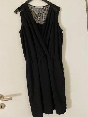 Promod Vestido de encaje negro