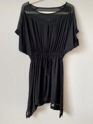 Schwarzes Kleid, auch als Bluse tragbar
