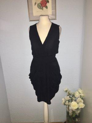 Schwarzes Kleid aus 100% Viskose