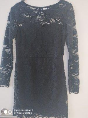 H&M Divided Longsleeve Dress black polyester