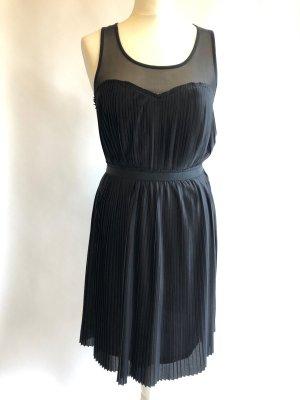 Schwarzes Kleid Chiffon S