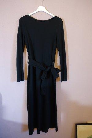Schwarzes Kleid, COS, Bindegürtel, Rückenausschnitt, Schleife, minimalistisch