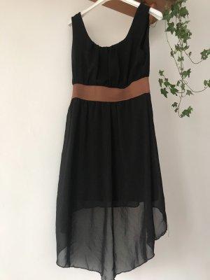 Robe bas asymétrique noir-brun noir