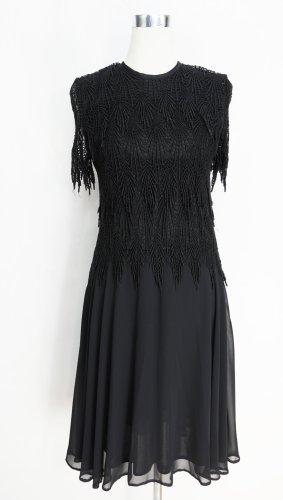 Schwarzes Kleid Gr. S Spitzenkleid Vintage Cocktailkleid