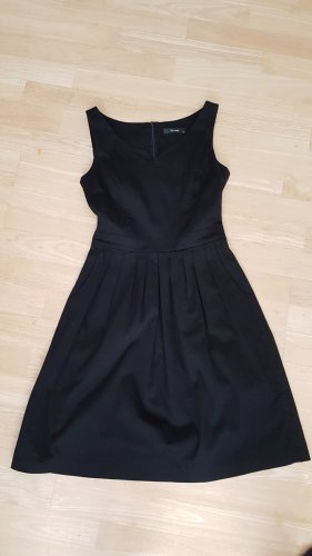 Hallhuber Shortsleeve Dress black cotton