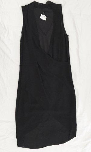Schwarzes Kleid in Wickeloptik NEU mit Etikett
