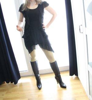 H&M Sukienka z falbanami czarny Wiskoza