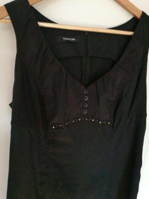schwarzes Kleid/ Leinenkleid