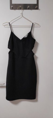 H&M Cut out jurk zwart
