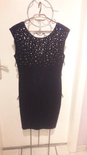 Schwarzes Kleid mit Glitzersteinchen neu mit Etikett