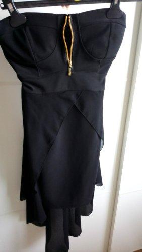 Robe bandeau noir-doré