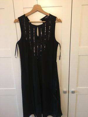 Schwarzes Kleid mit Gürtel , Tommy Hilfiger