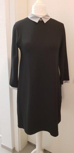 Schwarzes Kleid mit Kragen Gr.M