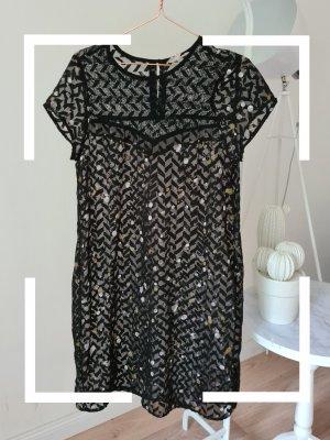Schwarzes Kleid mit Muster, Garcia Jeans