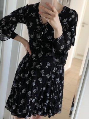 Schwarzes Kleid mit Muster, Hallhuber, Gr. 36