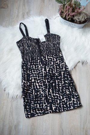 schwarzes Kleid mit Muster NEU