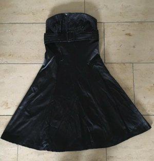 Schwarzes Kleid mit Pailletten, Damen, Größe S