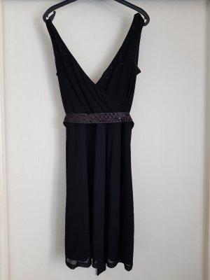 Schwarzes Kleid mit Pailletten von ESPRIT