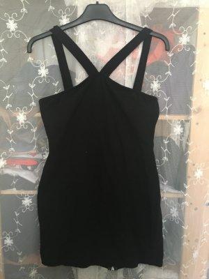 Schwarzes Kleid mit Reißverschluss