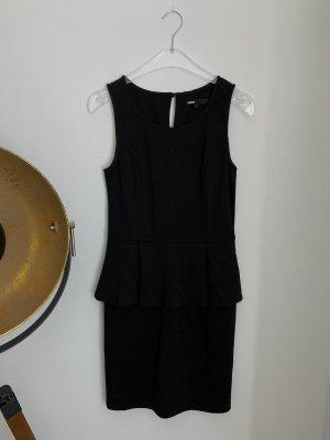 Minimum Vestito peplo nero