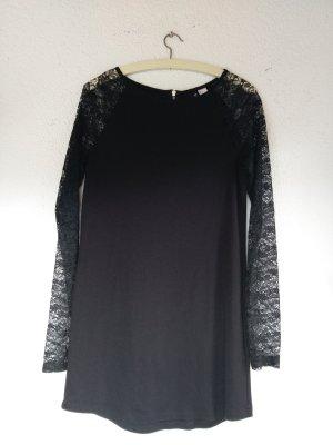 Schwarzes Kleid mit Spitzenärmeln von H&M Divided Größe 38