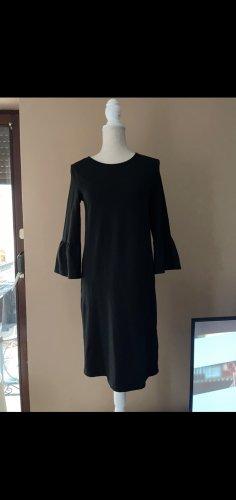 Schwarzes Kleid mit Tulpenärmeln in Größe XS