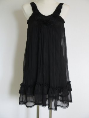 Robe Babydoll noir polyester