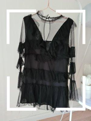SheIn Sukienka z falbanami czarny