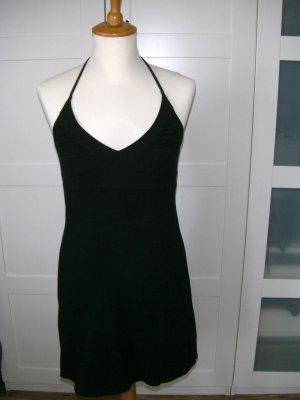 schwarzes Kleid, Neckholderkleid, Sommerkleid, Melrose, Gr. 34
